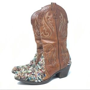 Ariat Custom Beaded 10005908 Cowboy Boots Size 7.5